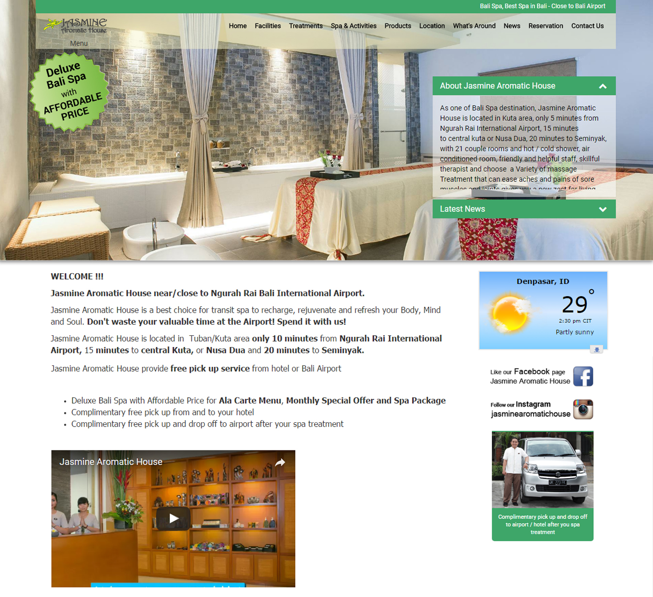 Carte Bali Avec Aeroport.Jasmine Aromatic House Bali Web Design And Development